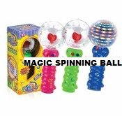 Led Magic Spinning Light Up Ball - - Novelty Gift For All Ages