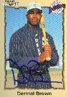 Dermal Brown Spokane Indians - Royals Affiliate 1998 Team Best Autographed Hand... by Hall of Fame Memorabilia