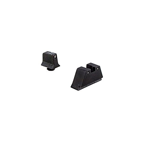 Trijicon Suppressor Night Sight Set, Black Front/Black Rear with Green Lamps for Glock 10mm/45ACP Models by Trijicon