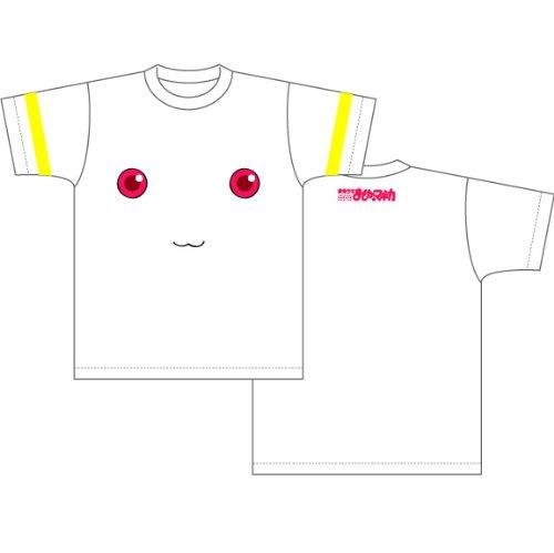 魔法少女まどか☆マギカ キュゥべえ顔柄 Tシャツ ホワイト サイズ:M