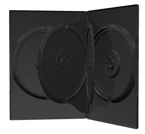 Mediarange BOX15 50 custodie 4 posti per cd, dvd e blu ray con tasca trasparente per copertina e spessore di 14mm