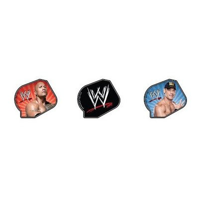 WWE Rock and Cena Cupcake Rings Party Favors - 24 pcs - 1