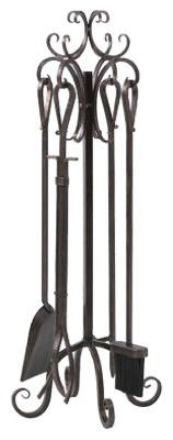 Panacea 5-Piece Scroll Top Fireplace Tool Set (Fireplace Tools Prime compare prices)