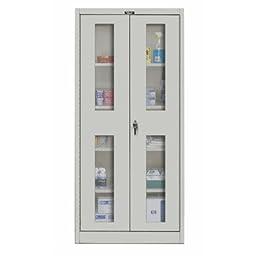 800 Series 2 Door Storage Cabinet Color: Platinum Antimicrobial