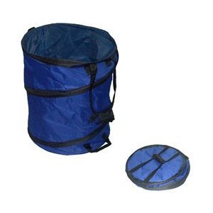 Portable Trash Can 18 X 23 1 2 Collapsible Blue Industrial Scientific