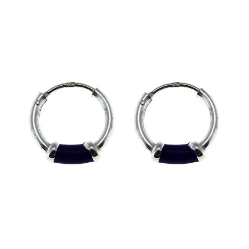 Lightweight Cute Blue Hoop Earrings for Teen Girls Jewelry Sterling Silver