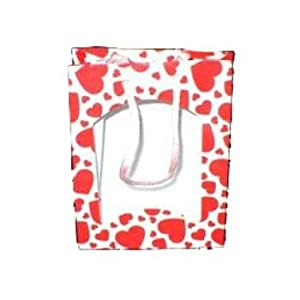 "Ddi 6"" Tall Red/White Valentine's Day Gift Bag (Pack Of 100)"