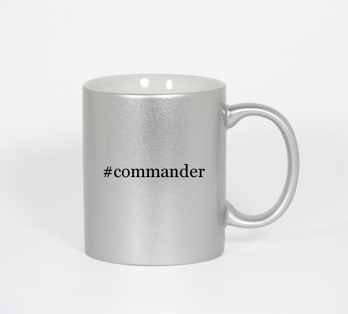 #Commander - Funny Hashtag 11Oz Silver Coffee Mug Cup