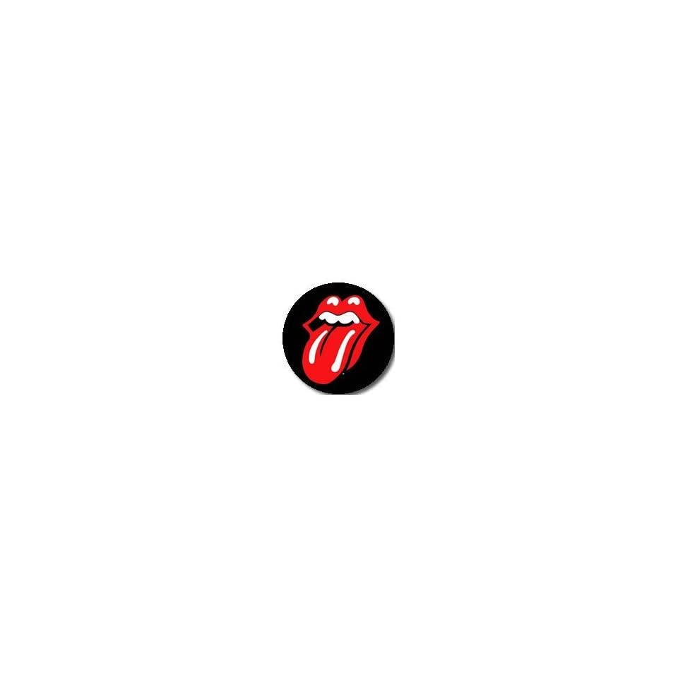 12] The Rolling Stones Classic Red Tongue PINBACK BUTTONS 1.25 Pins