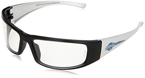 Harley Davidson HD1400 Safety Eyewear with   Black Frame, Silver Mirror Lens Tint and Anti-Scratch Hard Coat Lens Coating