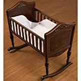 1 Piece Safety Cradle Bumper - Color: Ecru Poly/Cotton - Size: 18x36
