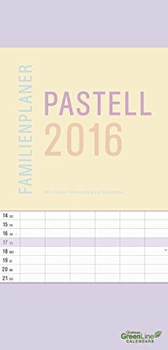 GreenLine Pastell 2016 Familienplaner, Buch