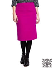 Best of British Wool Blend Knee Length Pencil Skirt with Angora