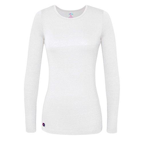 Sivvan Women's Comfort Long Sleeve T-Shirt / Underscrub Tee - S8500 - White - L (White Nursing Cap compare prices)