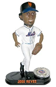 Jose Reyes New York Mets Limited Edition Platinum Bobble Head Doll from Forever... by Forever Collectibles