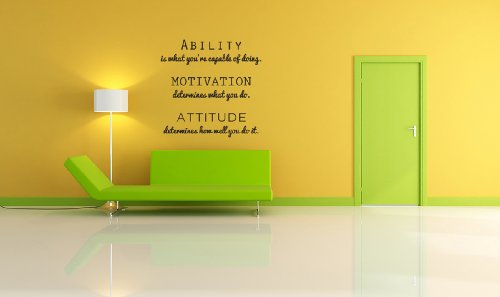 Inspirational Attitude Vinyl Wall Decal Quotes Wall