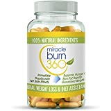 Fast Acting Weight Loss Pills. Natural Appetite Suppressant & Fat Burner Supplement to get Slim Fast - Lose Weight or 100% Money Back Guaranteed (1 Bottle - 30 Diet Pills) - Miracle Burn 360 (Tamaño: 1 Bottle)