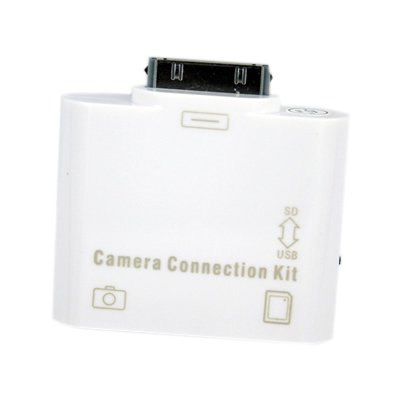 New 2in1 Apple iPad SD Card Reader & USB Camera Connection Kit