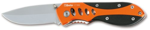 Beta 1778M Foldaway Knife, Titanium-Finished Blade, Metallic Handle, With Case