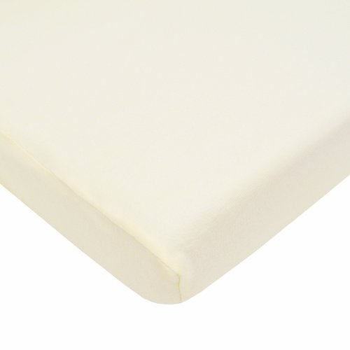 New American Baby Company 100% Cotton Value Jersey Knit Fitted Pack N Play Playard Sheet, Ecru