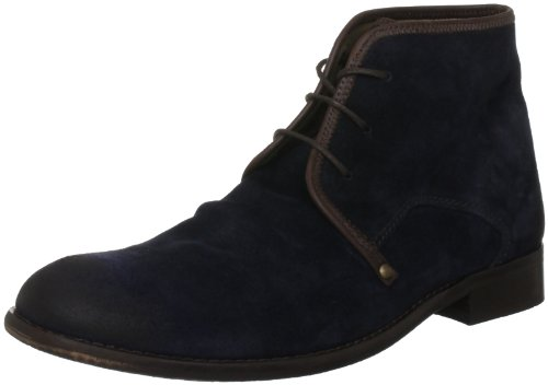 Fly London Men's Watt Navy/Dark Brown Lace Up Boot P141854009 11 UK