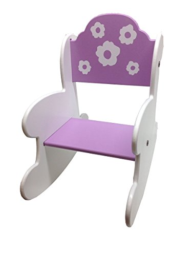 aBaby Pretty Flowers Rocking Chair-Toddler Size, Lavender - 1