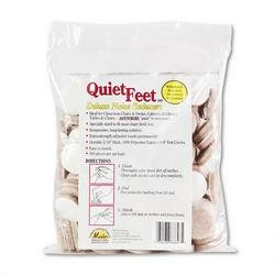 Master Caster 88847 Quiet Feet Self-Adhesive Noise Reducers, 1-1/4 Dia. Felt Pads, Beige, 100/pack