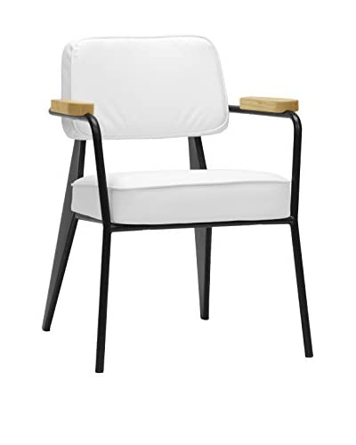 Baxton Studio Lassiter Mid-Century Accent Chair, White As You See