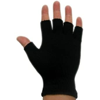 3 Pack - Magic Fingerless Glove - Black