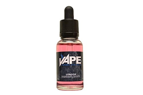 E-Cigarette-Liquid-Strawberries-and-Cream-Flavour-Non-Nicotine-Vaping-Juice-by-Vape-and-Chill-80-20-VG-PG-in-a-30ml-Glass-Bottle-with-Dropper