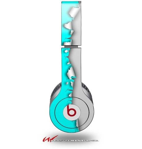 Ripped Colors Neon Teal Gray Decal Style Skin (Fits Genuine Beats Solo Hd Headphones - Headphones Not Included