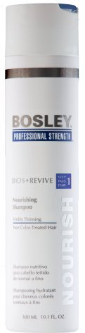 Bosley Professional Strength Nourishing Shampoo for Visibly Thinning Hair, Non Color Treated Hair, 10.1 oz