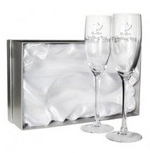 Wedding Day Flute Glasses