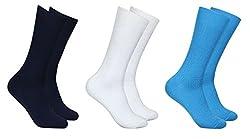 Balenzia Men's Mercerized Socks (Pack Of 3) (Jagmini73_Multi)
