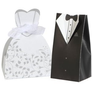 Amazon.com: 100 Bride Groom Wedding Dress Tuxedo Favor