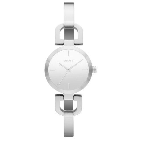 DKNY  0 - Reloj de cuarzo para hombre, con correa de acero inoxidable, color plateado