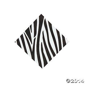 Paper Zebra Beverage Napkins - 1