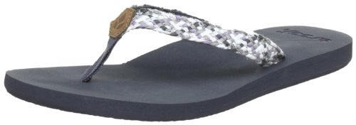 Reef REEF MALLORY GREY/METALLIC Flip-Flops Womens multi-coloured Mehrfarbig (Grey/Brown (GREY/METALLIC)) Size: 7.5 (41.5 EU)