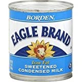 Borden, Eagle Brand, Condensed Milk, Low Fat, 14oz Can (Pack of 4)