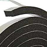 Frost King R734H Sponge Rubber Foam Tape 7/16-Inch, Black