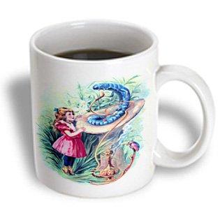 3Drose Mug_153723_1 Alice In Wonderland With Caterpillar In Color Ceramic Mug, 11-Ounce