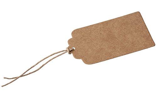 Braun Geschenkanhänger mit Schnur, Braun, braun, 50 Stück