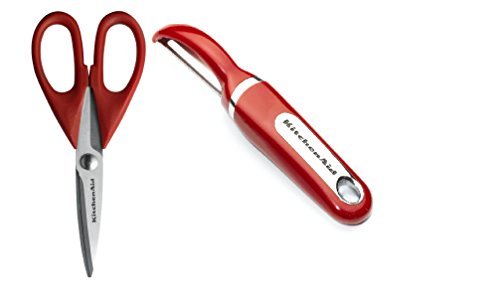 Kitchenaid Classic Red Set Euro Peeler and Classic Shears with Soft Grip, (Kitchenaid Peeler Set compare prices)