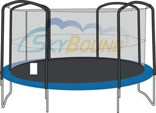 14-Trampoline-Enclosure-Safety-Net-for-4-Arches-fits-Jumpking