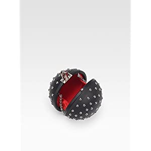 Christian Louboutin Eden Studded Ball Clutch Handbag