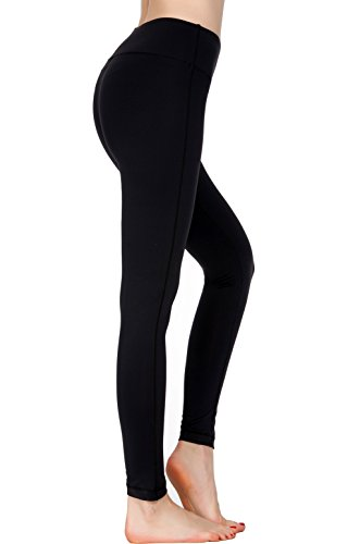Women Power Flex Yoga Pants Workout Running Leggings - All Colors Black XS