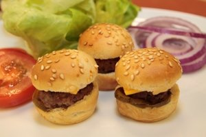 Mini Burger Rolls 40 Piece Tray. Your Shipping Price Goes Down As You Buy More Appetizers.