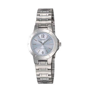 Casio Ladies LTP-1177A-2A Stainless Steel Blue Dial Round Casual Dress Watch