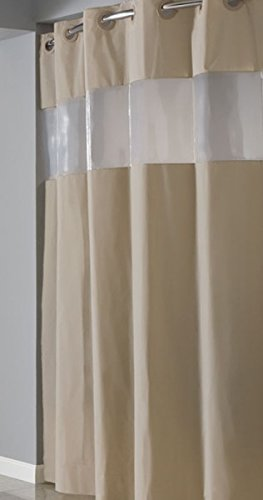 Hookless RBH14HH06 PEVA Shower Curtain - Brownstone (Hookless Shower Curtain compare prices)