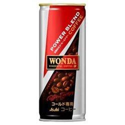 アサヒ WONDA(ワンダ) パワーブレンドコーヒー 250g缶×30本入